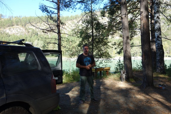 We found an actual, paid campground. The keeper assured us it was bear proof due to the fence. The fence was only half constructed. Anyway, we lived.