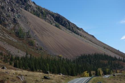 Enormous landslide