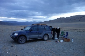 Our first campsite in Mongolia