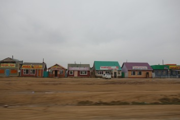 Lots of little towns had these rows of bright buildings lining the road