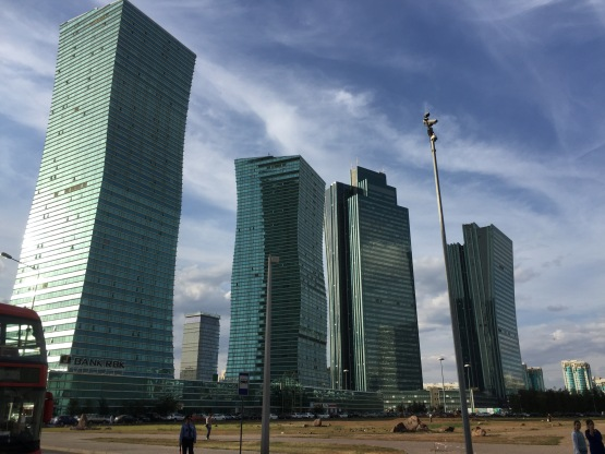 And this is the other side of them, showing that Astana is indeed a very new city - they started with the skyscrapers.