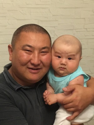Andrei's friend and his baby, who is perhaps the cutest thing in the world.
