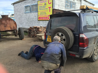 This is after the wheel alignment went all wonky. This was our first set of mechanics.