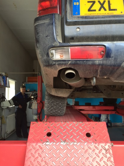 Before: look at that wheel alignment. Yikes!