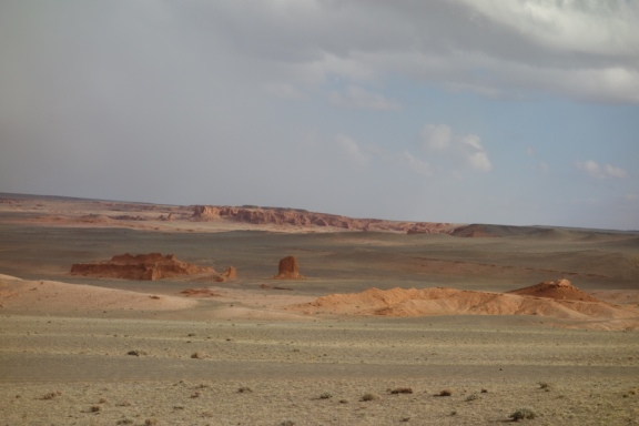 View of the Flaming Cliffs