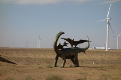 These life-size sculptures dot the plains on the edge of Erenhot