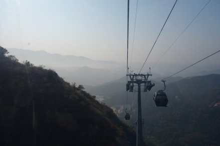The cable car up