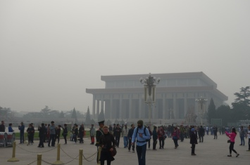 Mao's tomb (on Tiananmen Square)