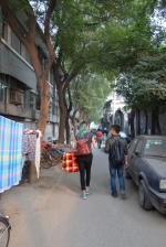 Walking with Jens in the hutong