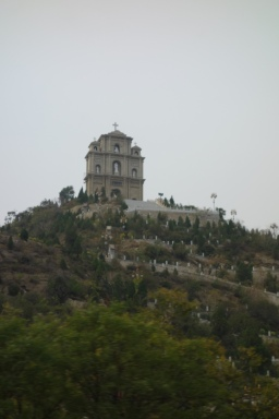 Surprisingly, a big church along the freeway! We also saw a mosque!