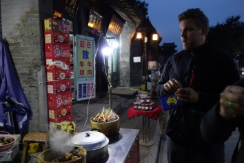 Nighttime street food