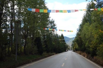 Tibeted prayer flags