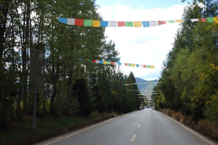 Tibeted prayer flags