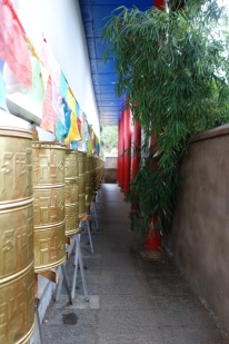 Many Buddhist temples have these things you spin, but this one had them completely encircling the temple