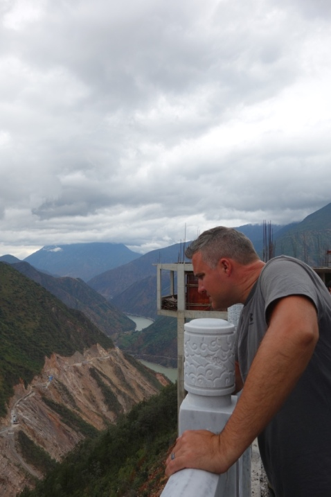 Luke looking at the Yangtze