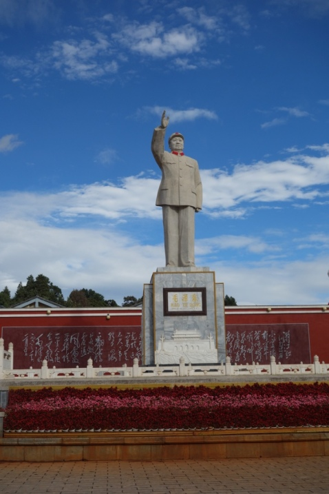 A bigass Mao in a central square of the new Lijiang town