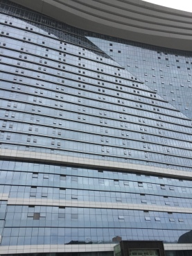 And now for something completely different - apparently the biggest enclosed space in the world, the mall in Chengdu. I could not fit it all in a photo.