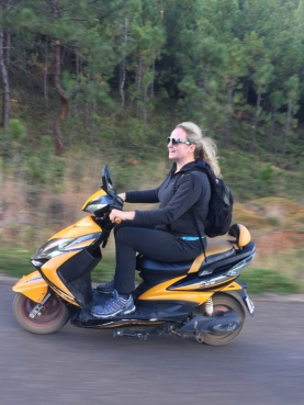 "Jo ""speeding"" along"