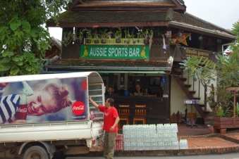 Luang Prabang is not westernised at all, oh no. No CocaCola vans and Aussie Sports Bars, nope.
