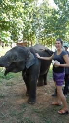 Petting baby Surya!