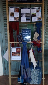 A display in the excellent Traditional Arts and Ethnology Centre, a museum about the ethnic groups and arts in Laos.