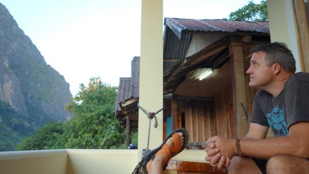 Sitting on the hammock