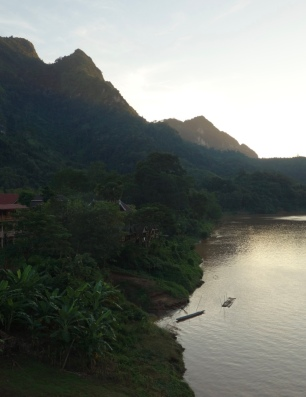The Ou River, a tributary of the Mekong (I think). From the bridge in Nong Khiaw