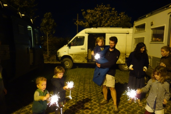And the kids got sparkles, so everyone could get in on the pyro action.