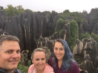 I also forgot to tell you about this in the last blog. It's the Stone Forest in southern China, a real tourist attraction.