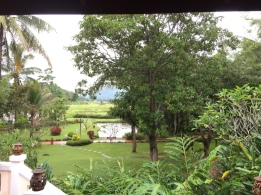 A view of our very nice resort, home for the first 2 nights in Luang Prabang, courtesy of Jo