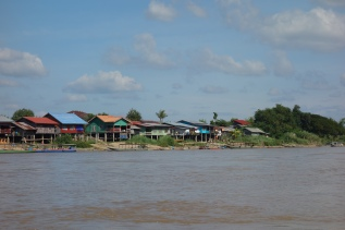 A view of the banks of the Mekong