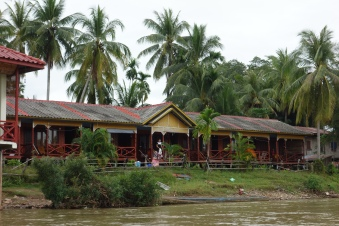 Our bungalows, as seen from the river
