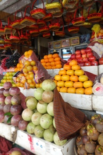 THis is a fancy fruit market that specialises in fruit that will be given as gifts, as far as we could tell