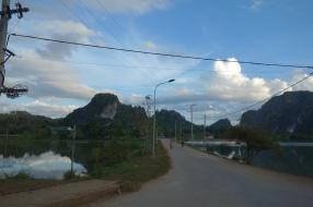 The town of Vieng Xai, which was built in the last few decades - what little existed before the bombing was all destroyed by us Americans.