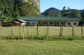 A school outside the cave