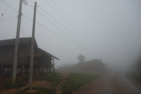 We hit some eery fog on the way down to the Plain of Jars
