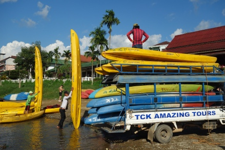 And all these kayaks floated next to us down the river, occupied by shockingly drunk Brits.