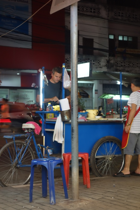 Luke gets street food