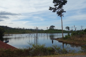 A lake created by a recent dam near Thalang
