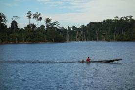 The same recent dam lake