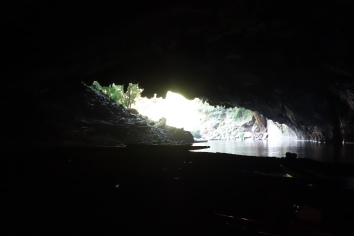 Just inside the entrance of the cave