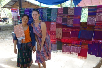 This woman was weaving, so we bought some