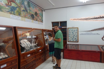 We went to the Savannakhet dinosaur museum! Luke was very happy to have a biologist friend with him (that's Jocelyn there!) who was just as excited as he was to see bones and what not.
