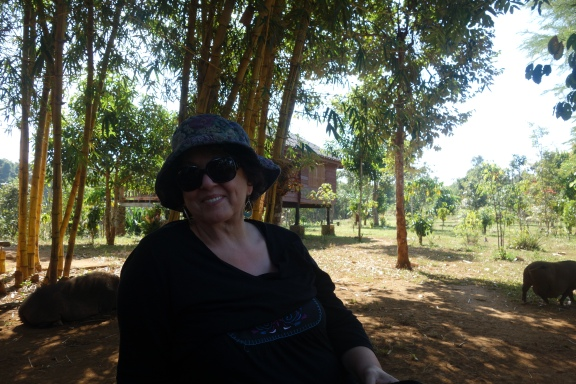 Jocelyn enjoying the shade