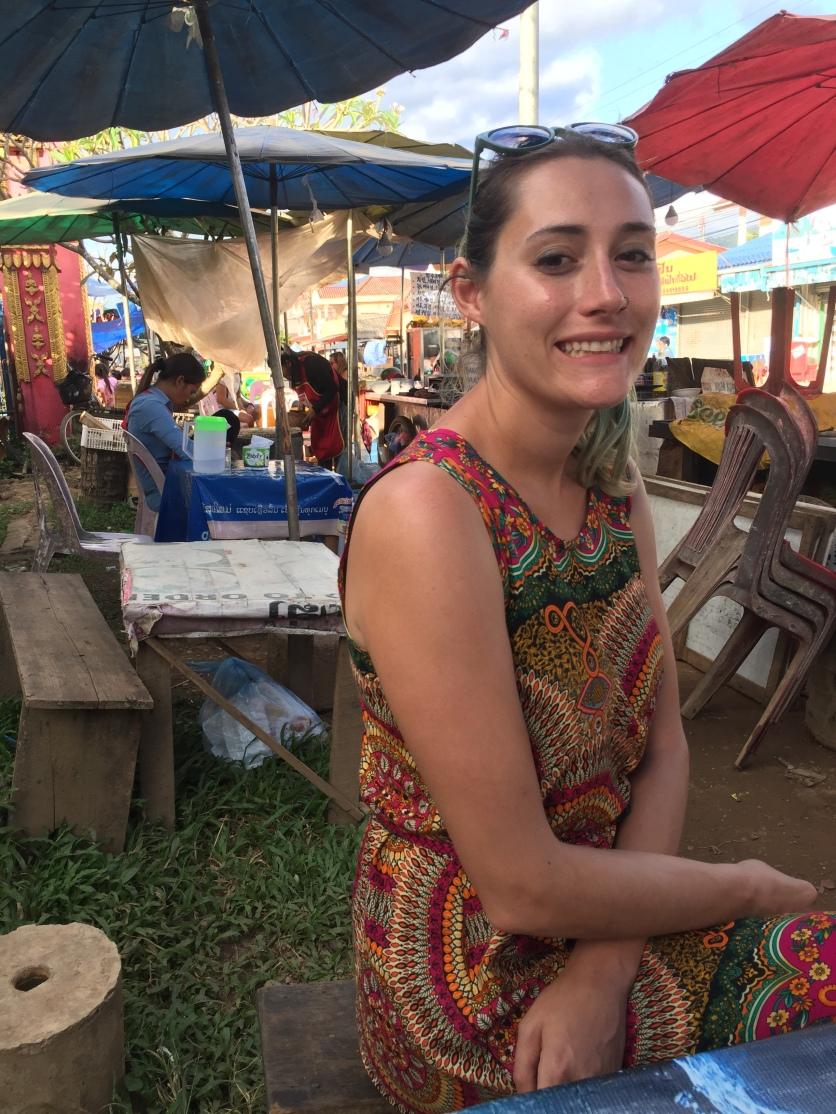 Eating, back in Vang Vieng