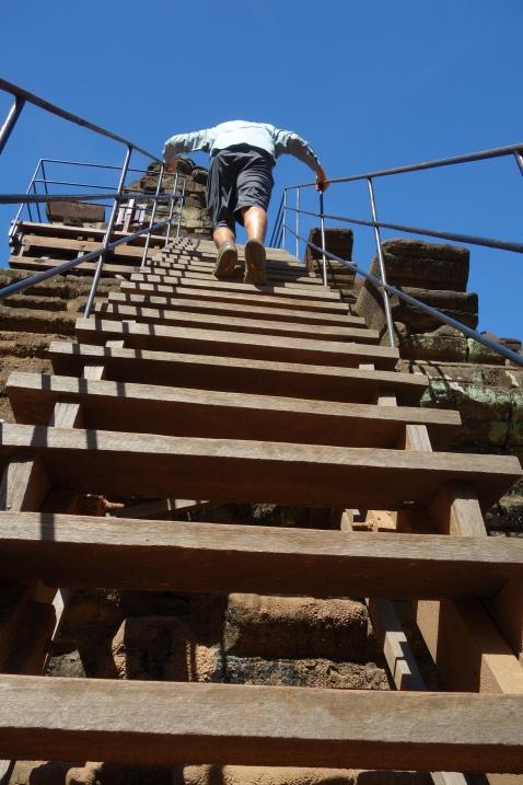 Climbing Baphuon.