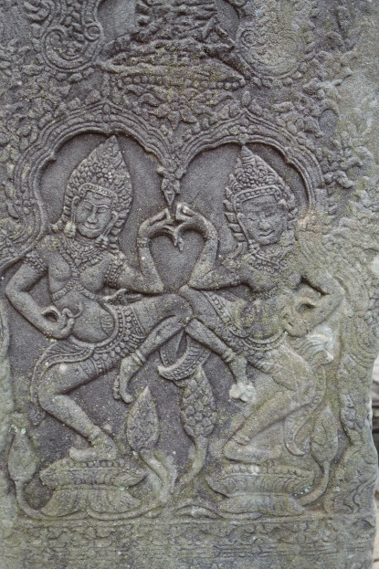 These are Apsaras - heavenly nymphs.