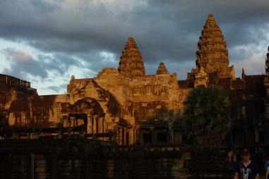 Angkor Wat in sunset.