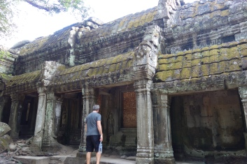 Ta Prohm, one of the three most famous of the Angkorian temples.