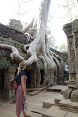 It is pretty cool due to the amazing tree roots, but as you saw from the photos of Day 2, there are other temples that have this too.